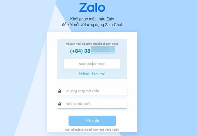 Cách lấy lại mật khẩu Zalo khi bị quên - 12