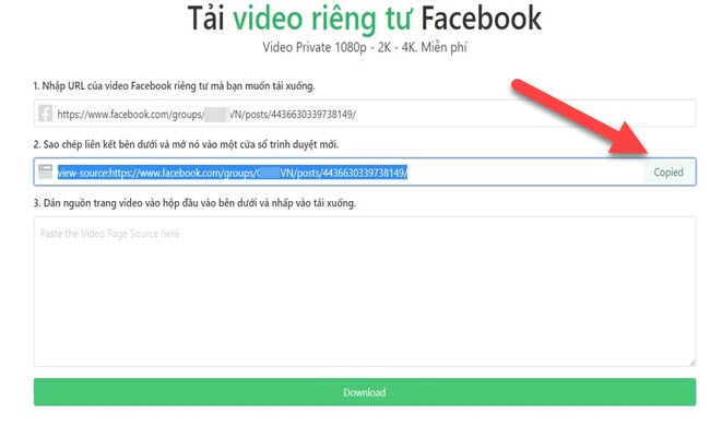 The fastest way to download videos on Facebook - 10