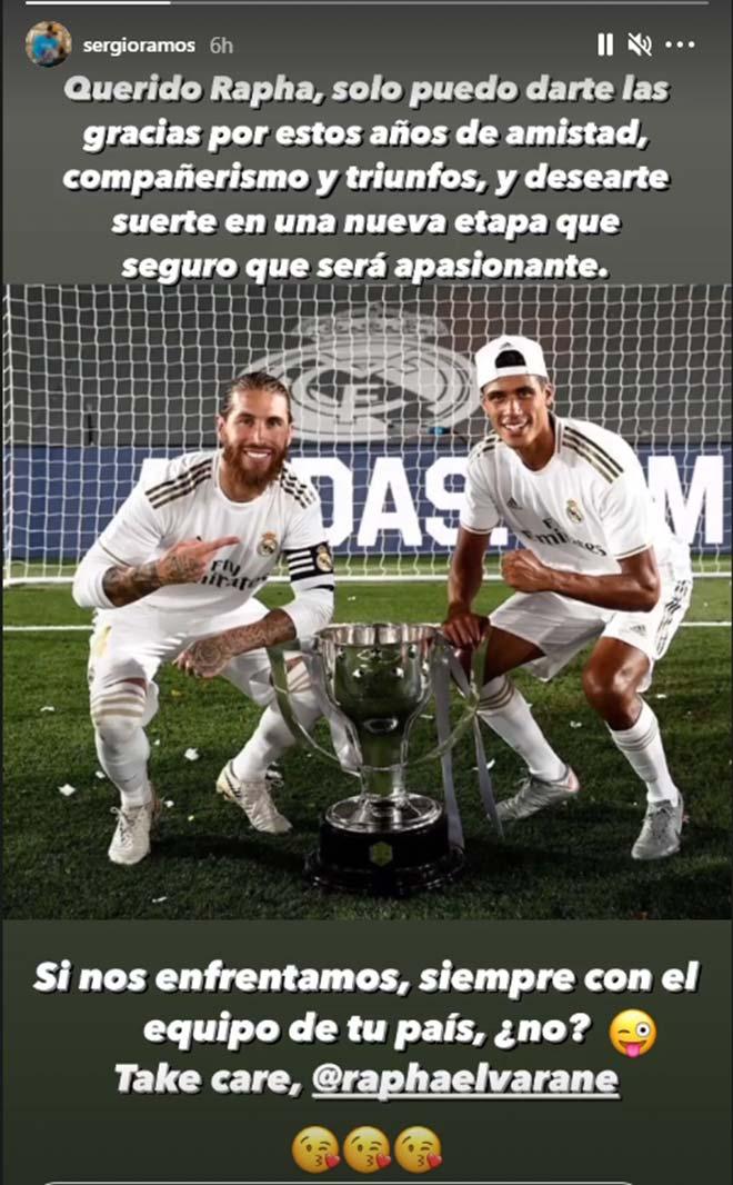 Varane lên đường đến Manchester, được Ramos & Marcelo chúc mừng sang MU - 1