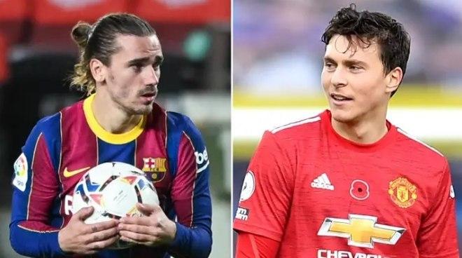 """MU vừa chiêu mộ Varane, Barca gây sốc gạ đổi Lindelof lấy """"người thừa"""" Griezmann - 1"""