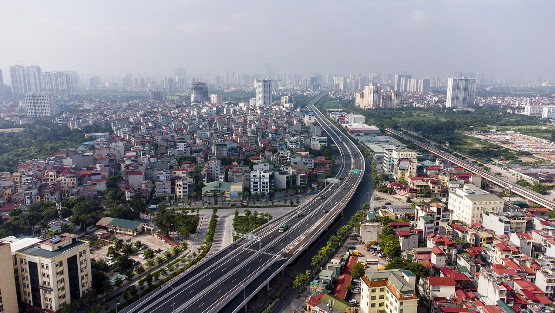 Nhìn từ trên cao đường phố Hà Nội trong buổi sáng ngày thứ 8 giãn cách xã hội - 17