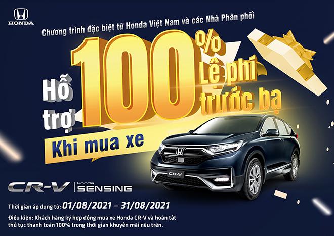 Nhận ngay ưu đãi 100% lệ phí trước bạ khi mua Honda CR-V trong tháng 8 năm 2021 - 2