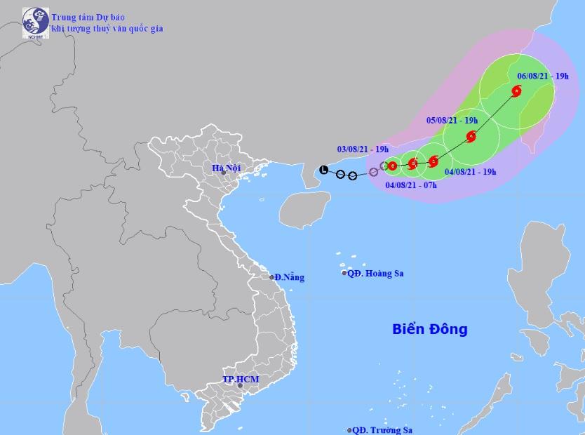 Áp thấp nhiệt đới di chuyển 10km/h, khả năng mạnh thành bão trong 12h tới - 1
