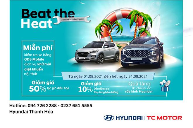 """Hyundai Thanh Hóa khuyến mãi dịch vụ tháng 8 - """"Chăm sóc xe – Hè mát lạnh"""" - 1"""