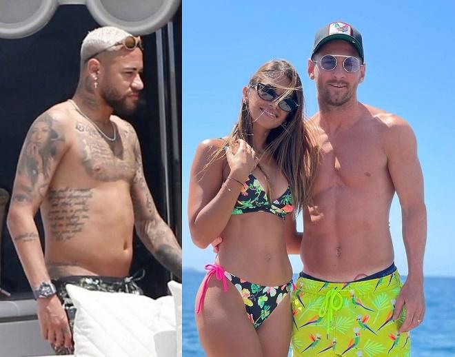 """Neymar lộ thân hình bụng mỡ ôm ấp tình cũ, Messi """"thất nghiệp"""" khoe cơ thể săn chắc - 1"""