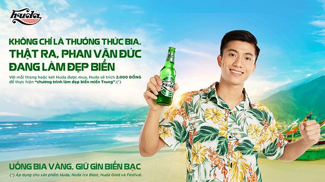Tiền vệ Phan Văn Đức làm Đại sứ chương trình làm đẹp biển miền Trung của Huda - 1