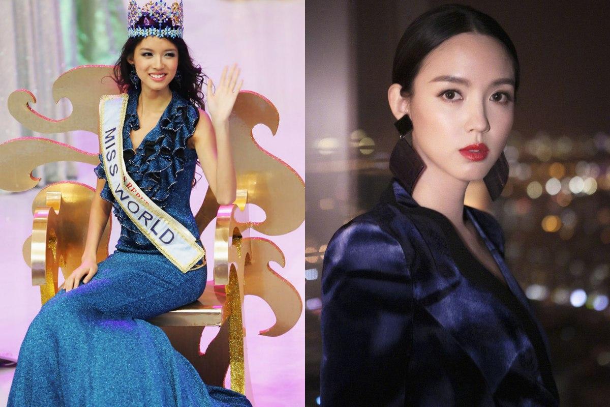 Ảnh cũ của hoa hậu Trương Tử Lâm lại gây xôn xao - 1