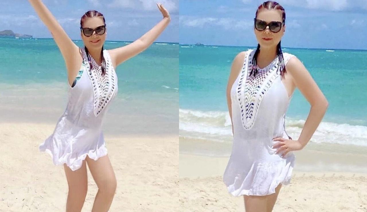 Vợ cố nghệ sĩ Chí Tài diện áo tắm khoe vóc dáng trẻ trung ở tuổi 62 - 1