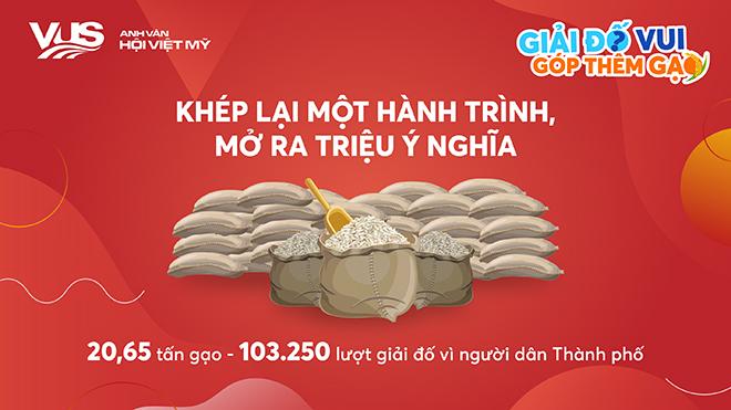 20,65 tấn gạo được đóng góp từ hoạt động vì cộng đồng của VUS - 1