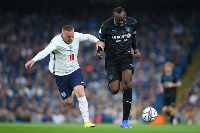 Rooney chạy đua với Usain Bolt, SAO già tuyển Anh thua 0-3 trước đội siêu sao thế giới - 1