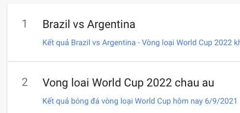 """Trận Brazil vs Argentina vừa """"leo trend"""" Google, bạn biết tại sao không? - 1"""