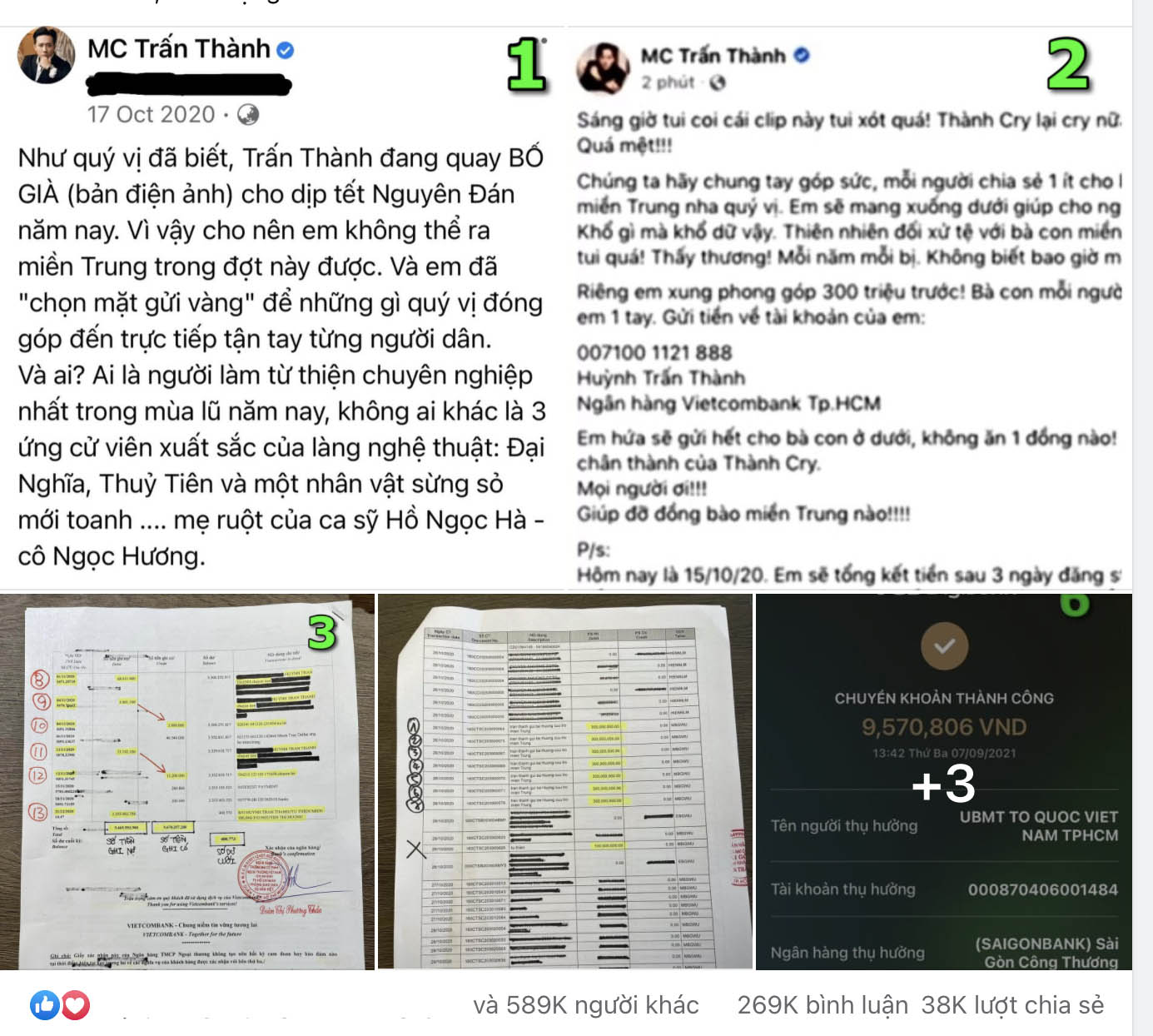 """MC Trấn Thành bị tố sao kê giả, lấy tiền mua nước hoa: """"Con trai"""" nói gì? - 1"""