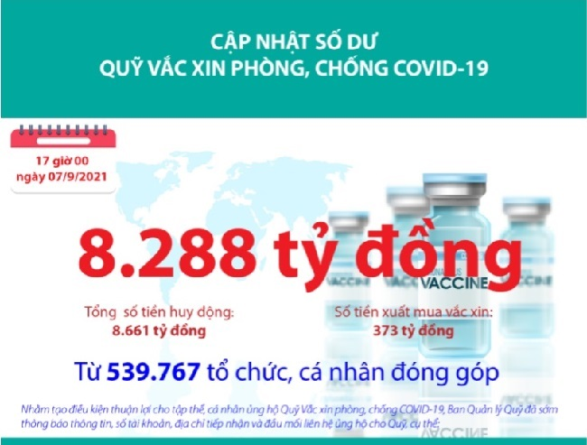 Quỹ Vắc xin phòng, chống COVID-19 còn bao nhiêu tiền? - 1
