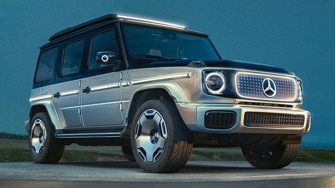 Xe điện Mercedes-BenZ EQG lộ diện hoàn toàn - 1