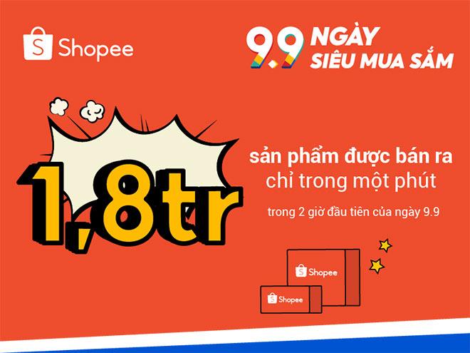 1,8 triệu sản phẩm đã được bán ra chỉ trong vòng một phút trên Shopee - 1