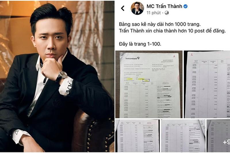 """Trấn Thành tung 1000 trang sao kê: Vietcombank lên tiếng sau khi bị """"tấn công"""" và hứng bão """"1 sao"""""""