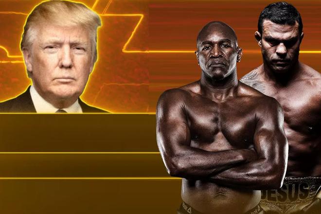 Donald Trump làm bình luận viên trận Holyfield U60 đấu Belfort kém 14 tuổi - 1