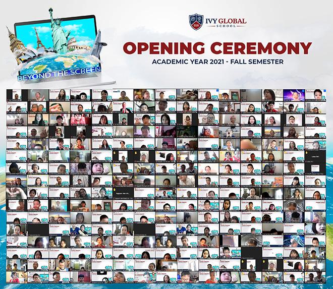 Học sinh Việt Nam và học sinh quốc tế tham gia lễ khai giảng Trường quốc tế Mỹ trực tuyến - 1
