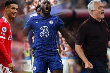 """MU và 3 """"ông lớn"""" đua vô địch Ngoại hạng Anh, Mourinho vỡ òa trận đấu thứ 1000 (Clip 1 phút Bóng đá 24H)"""