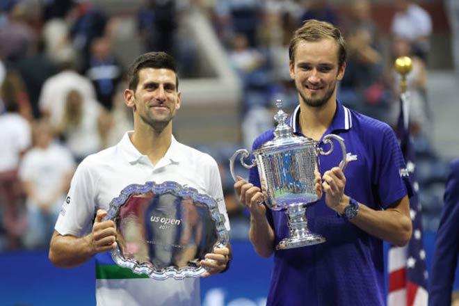 Medvedev đăng quang US Open, bất ngờ khen Djokovic vĩ đại hơn Federer & Nadal - 1