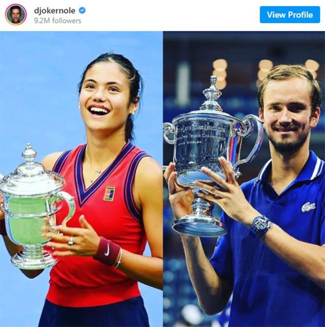 Nóng nhất thể thao tối 14/9: Djokovic chúc mừng Raducanu & Medvedev - 1