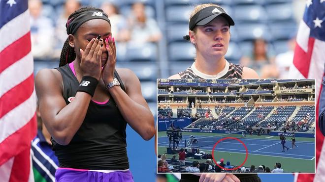 Cú sốc chung kết US Open: Nữ á quân đập nát vợt ném thẳng vào khán giả - 1