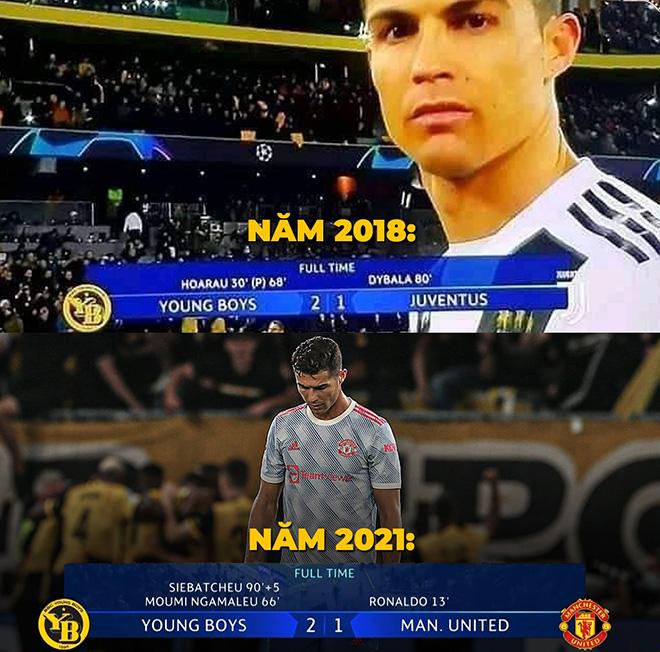 Ảnh chế: Ronaldo bất lực khi MU thua trận mở màn cúp C1 - 1