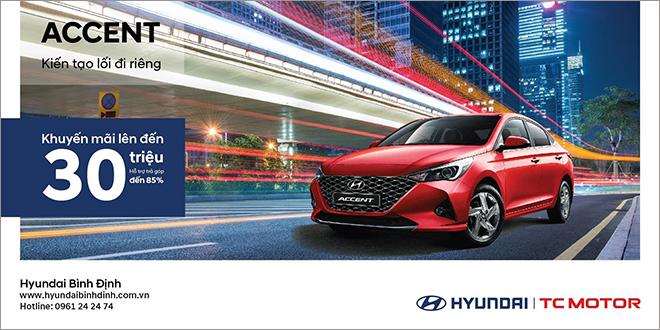 Hyundai Bình Định tung ưu đãi cho mẫu xe Hyundai Accent trong tháng 9 - 1