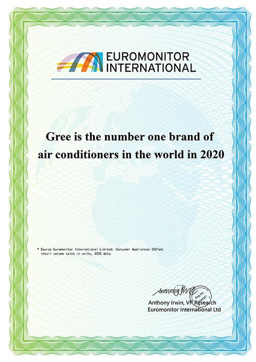 """Gree 6 năm liền đạt chứng nhận """"Thương hiệu điều hòa số 1 thế giới"""" - 1"""