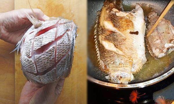 Trước khi rán, ướp chút nguyên liệu này đảm bảo cá vàng giòn, không sát chảo - 1