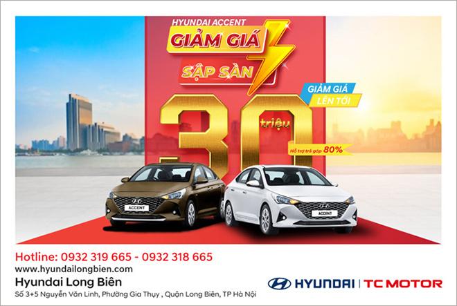 Hyundai Long Biên giảm tới 30 triệu đồng khi mua Hyundai Accent - 1