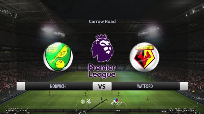 Video bóng đá Norwich - Watford: Đôi công mãn nhãn, ngôi sao ghi 2 bàn (Vòng 5 Ngoại hạng Anh)
