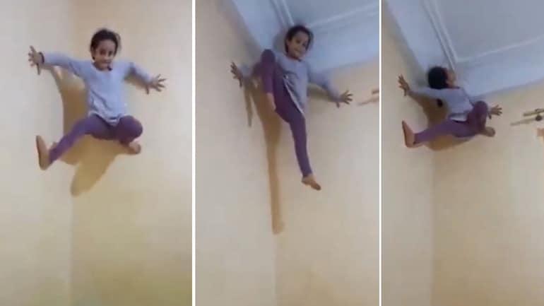 Clip: Cô bé trèo tường dễ dàng như người nhện gây sốc - 1