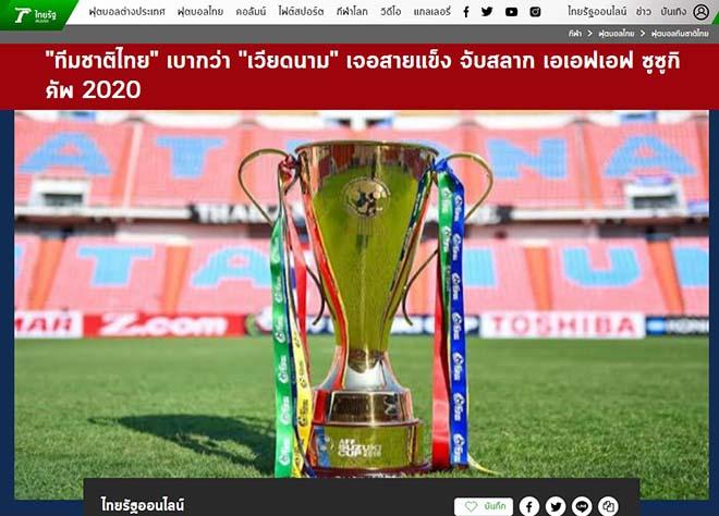 Báo Thái Lan hả hê vì bảng đấu dễ hơn Việt Nam, hẹn nhau ở chung kết AFF Cup - 1