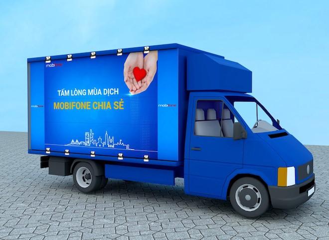 """TP.HCM: Chuyến xe """"Tấm lòng mùa dịch, MobiFone chia sẻ"""" đến với 5.000 người khó khăn - 1"""