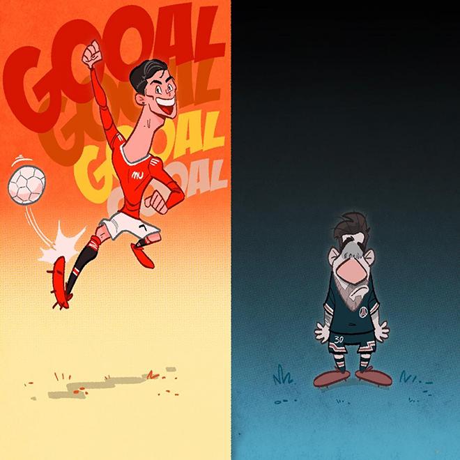 Ảnh chế: Ronaldo liên tục tỏa sáng khiến Messi chịu áp lực ngàn cân - 1