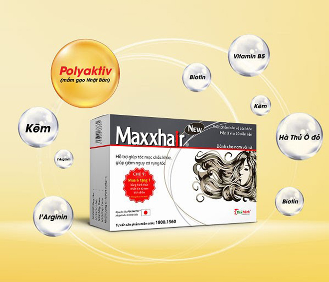 Maxxhair phiên bản mới: Bổ sung Polyaktiv giúp tóc mọc nhanh, chắc khỏe hơn - 1
