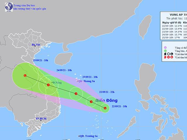 Áp thấp khả năng mạnh thêm, hướng vào miền Trung, mưa lớn sẽ dồn dập - 1