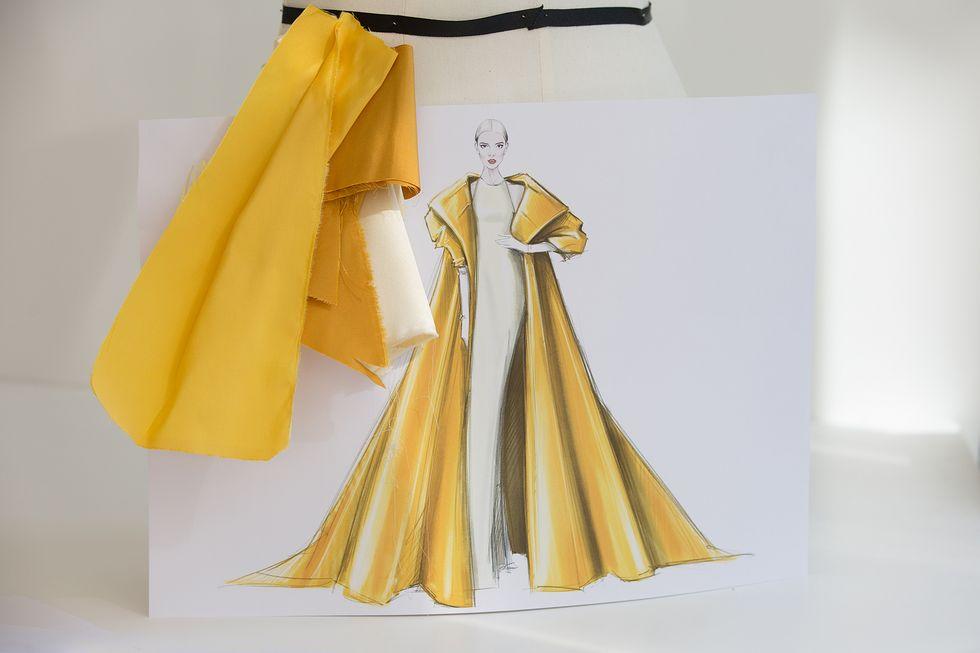 Ngắm bản vẽ trang phục của Anya Taylor-Joy tại giải Emmy - 1