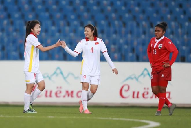 Kết quả bóng đá nữ Việt Nam - Maldives: Choáng váng tỷ số 16 - 0, Hải Yến ghi 6 bàn - 1