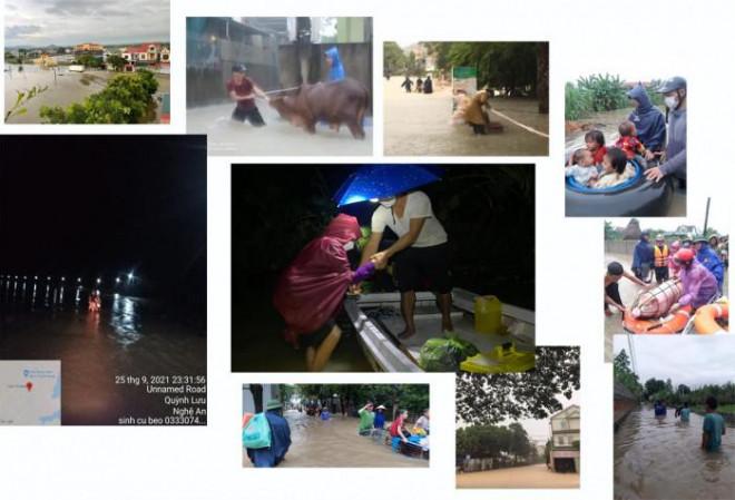 Nghệ An: Mưa lớn lịch sử, hồ chứa xả lũ, trắng đêm chạy lũ - 1