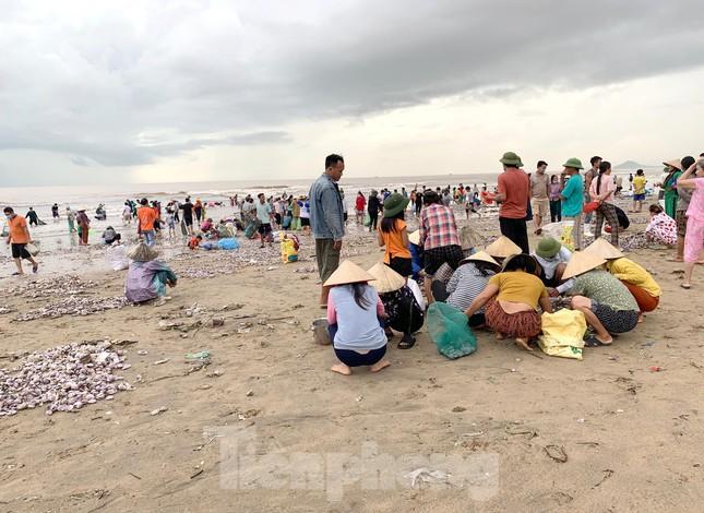 Sóng đưa 'lộc' vào bờ, người dân đổ xô đi nhặt kiếm bạc triệu chỉ trong vài giờ - 1