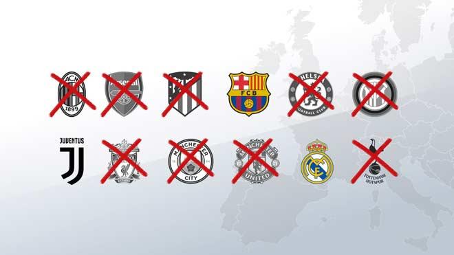 UEFA bỏ kiện Real, Barca và Juventus vụ Super League: Hết cửa cấm dự Cúp C1 - 1