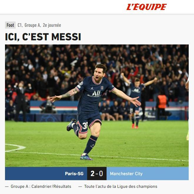 """Messi nhấn chìm Man City: Báo chí Pháp """"ngả mũ"""", chê đối thủ kém duyên - 1"""