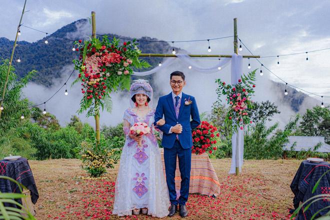Đám cưới đẹp như mơ giữa núi rừng Tây Bắc của cô dâu H'Mông và chú rể Sài thành - 1