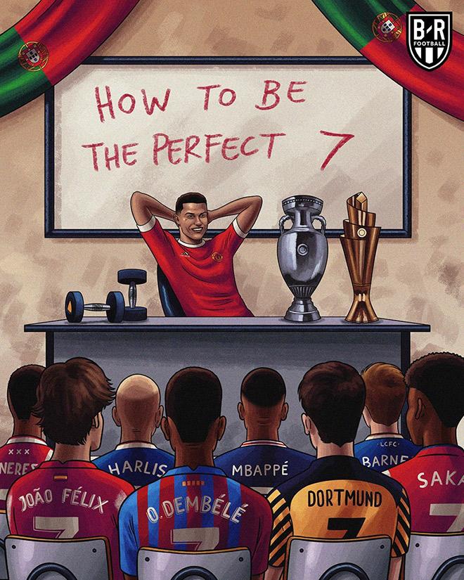 Ảnh chế: Ronaldo mở lớp dạy làm thế nào trở thành số 7 hoàn hảo - 1