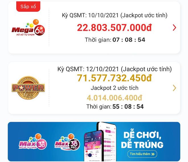 Xổ số Power 6/55: Jackpot tăng mạnh, vượt 71 tỉ đồng - 1