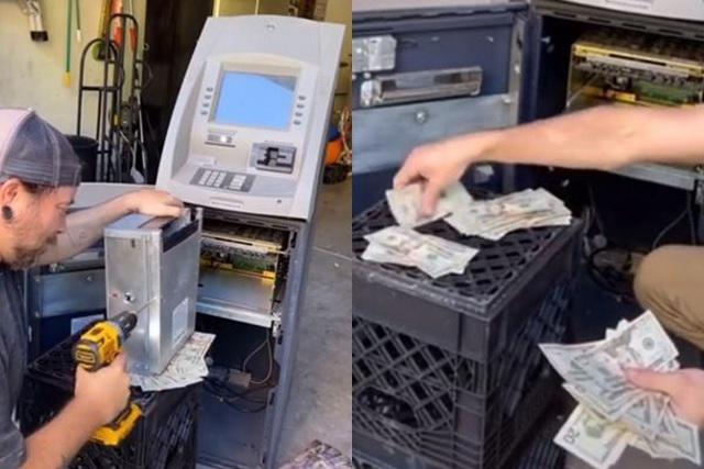 Người đàn ông mua lại chiếc máy ATM cũ, đập ra định bán sắt vụn thì phát hiện thứ gây choáng - 1