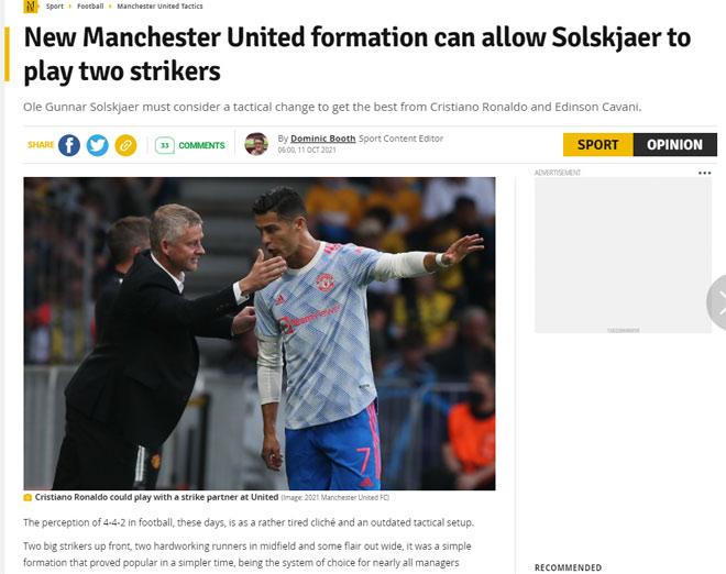Báo Anh bày mưu giúp MU đua vô địch: Ronaldo đá cặp Cavani, Pogba giảm gánh nặng - 1