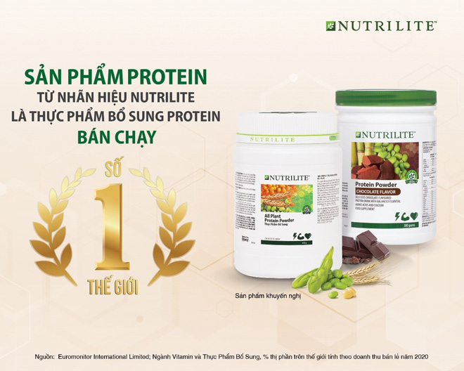 Dòng sản phẩm Nutrilite Protein đạt danh hiệu bán chạy số 1 thế giới - 1